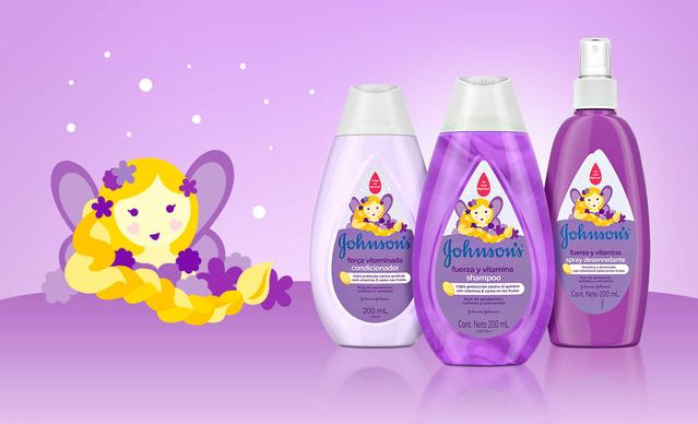 Botellas de productos Johnson's